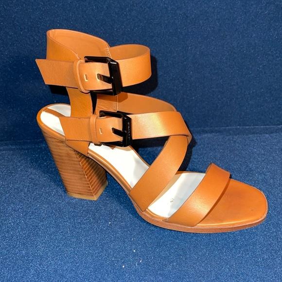 Zara Leather Strappy Heel Sandal